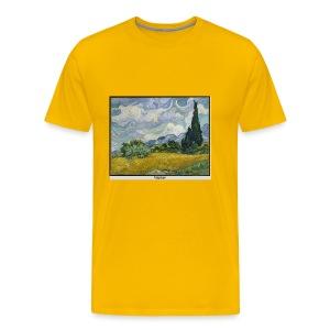 Wheat Field with Cypresses, VAN GOGH - Men's Premium T-Shirt