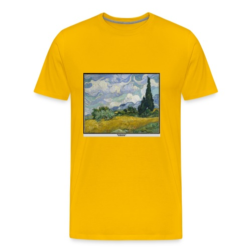 Wheat Field with Cypresses, VAN GOGH - Men's Premium T-Shirt