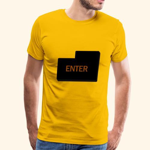 enter keyboard part - Men's Premium T-Shirt