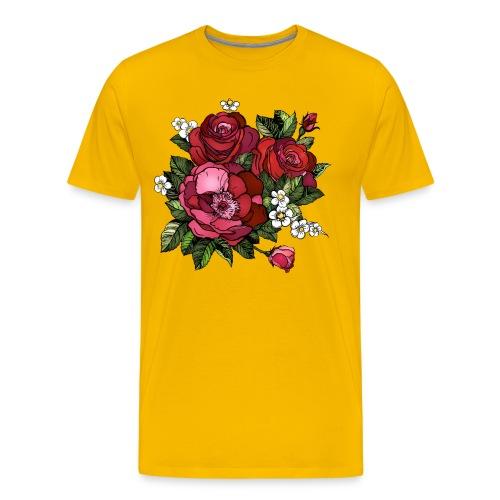 Flowers Design - Men's Premium T-Shirt