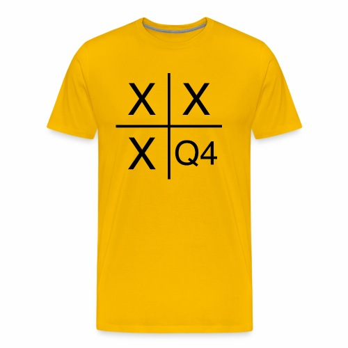 Quarter Four Hustle Hard - Men's Premium T-Shirt