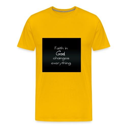 faith in god wallpaper 11104412 - Men's Premium T-Shirt