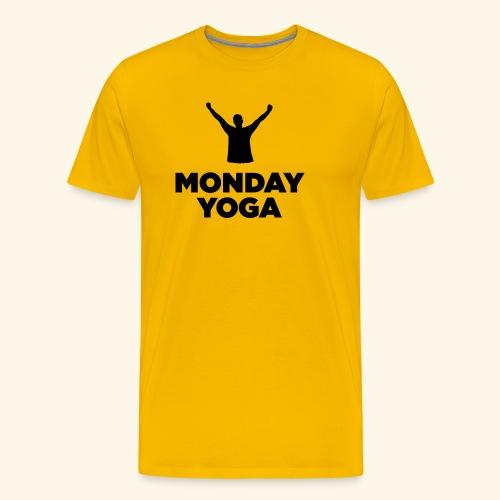 monday yoga - Men's Premium T-Shirt