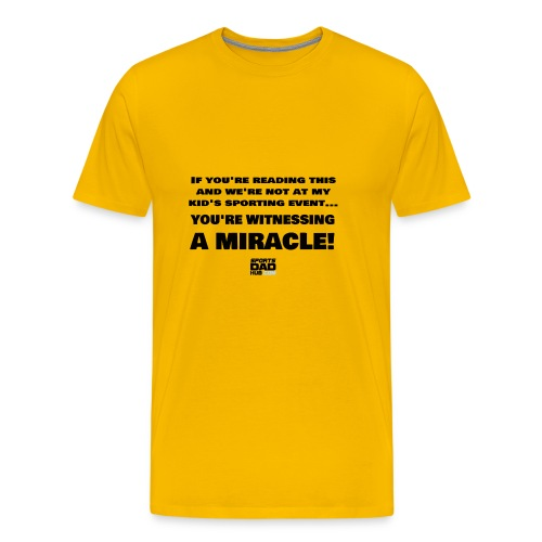 Witnessing A Miracle - Men's Premium T-Shirt