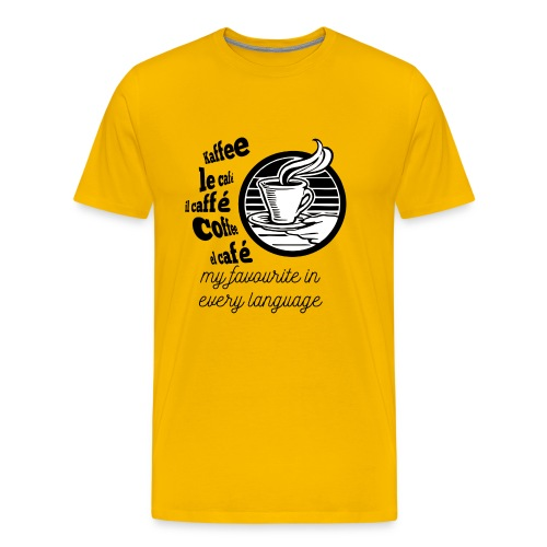 I love Coffee in every language - Men's Premium T-Shirt