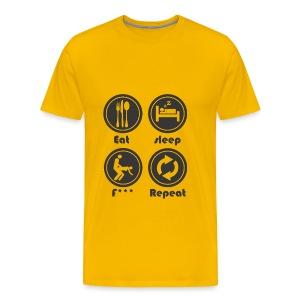 Eat Sleep F Repeat - Men's Premium T-Shirt