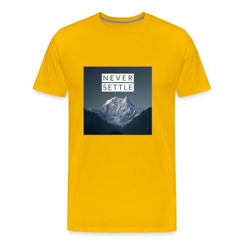 Never settle bundle - Men's Premium T-Shirt