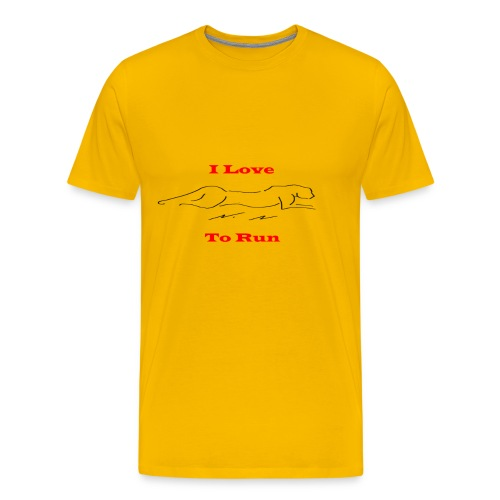LoveToRun - Men's Premium T-Shirt