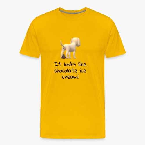 Poop or Chocolate Ice Cream? - Men's Premium T-Shirt