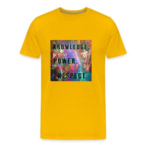 Knowledge Power Respect - Men's Premium T-Shirt
