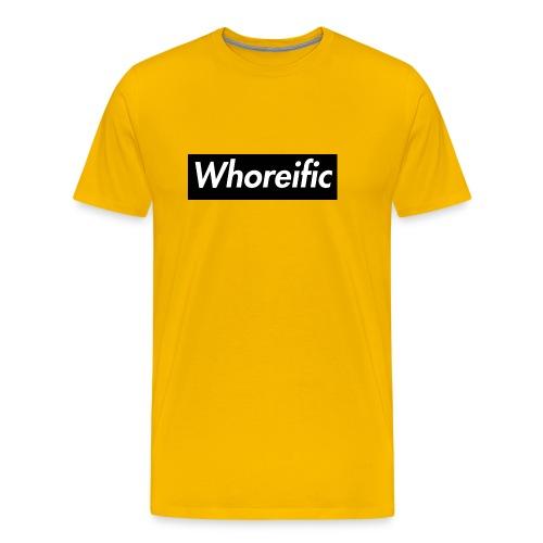 WHOREific label - Men's Premium T-Shirt