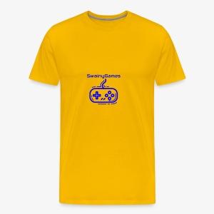 SwainyGames-Blue - Men's Premium T-Shirt