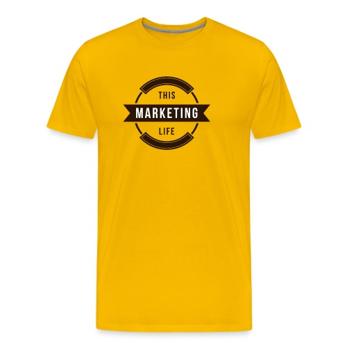 This Marketing Life Logo Brown - Men's Premium T-Shirt