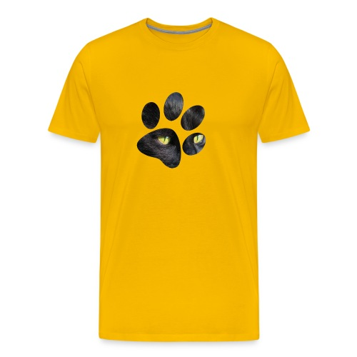 Black Cat's Paw T-shirt - Men's Premium T-Shirt