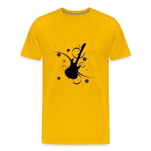Floral Gitarre - Men's Premium T-Shirt