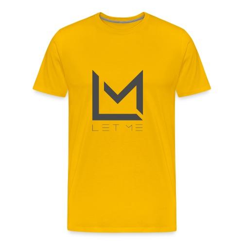 LM Logo - Asphalt - Men's Premium T-Shirt