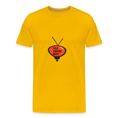 SELF AWARE IDIOT - Men's Premium T-Shirt