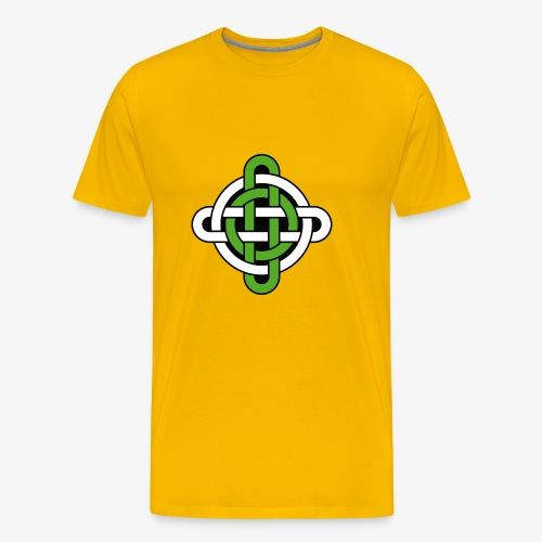 celtic knot green and white - Men's Premium T-Shirt