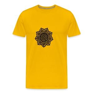 Flower Drawing - Men's Premium T-Shirt