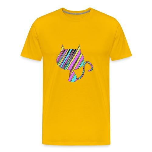 The Skis Cat - Men's Premium T-Shirt
