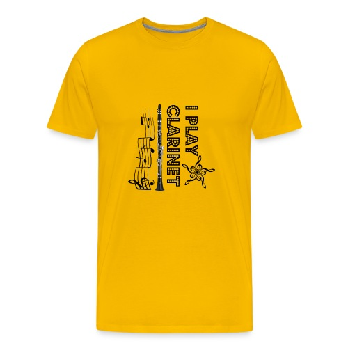 i play clarinet - Men's Premium T-Shirt