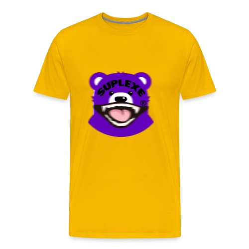 PURPLE {BLUR} BE@R x BADGER TEE - Men's Premium T-Shirt