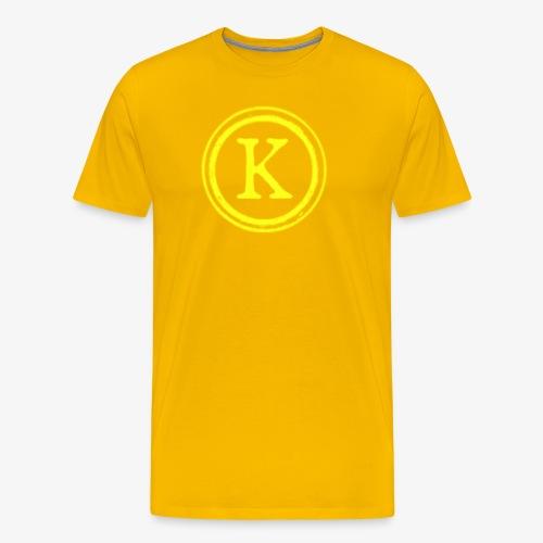 1000x1000 yellow logo - Men's Premium T-Shirt