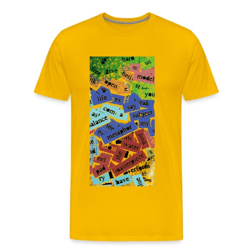 words texture - Men's Premium T-Shirt