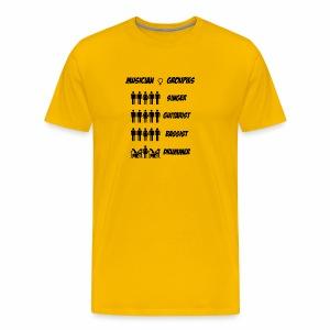 Female Musician Groupies Black Logo - Men's Premium T-Shirt