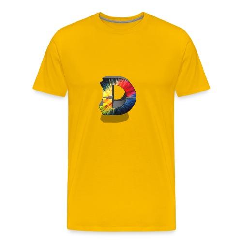 D Logo Colorful - Men's Premium T-Shirt