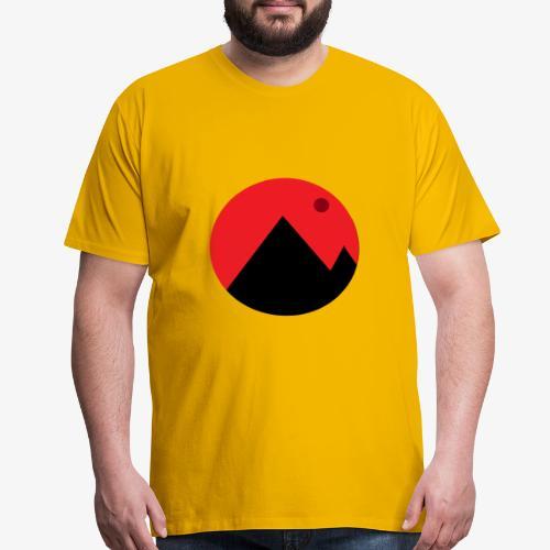 Mountain and the moon - Men's Premium T-Shirt