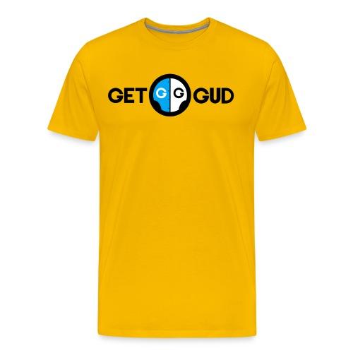 Get Gud text with logo in between - Men's Premium T-Shirt
