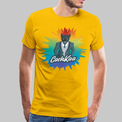 Colored Suited Wolf: CashKaa - Men's Premium T-Shirt