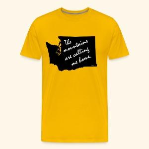 Washington mountains - Men's Premium T-Shirt