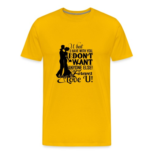 love u forever - Men's Premium T-Shirt