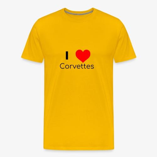 I luv Corvettes - Men's Premium T-Shirt