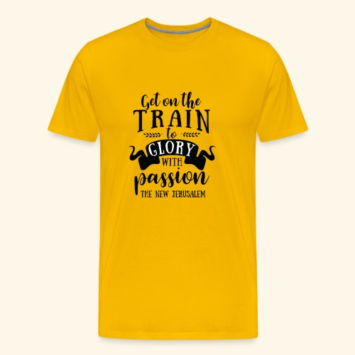 GET ON THE TRAIN - Men's Premium T-Shirt