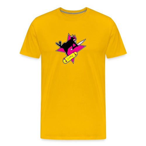 Ninja Cat Star - Men's Premium T-Shirt