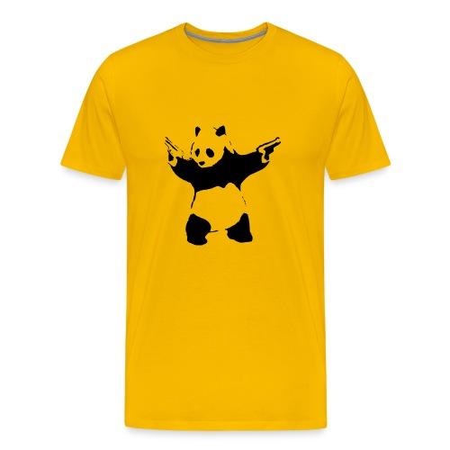 Shoot Em Up Panda - Men's Premium T-Shirt