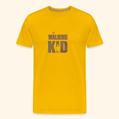 Walking Kid Logo Humour Funny - Men's Premium T-Shirt
