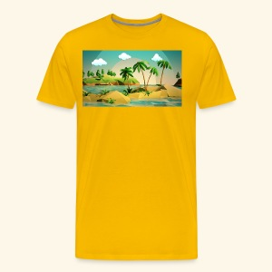 3d nature t-shirt - Men's Premium T-Shirt