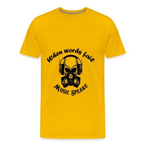 music speake - Men's Premium T-Shirt