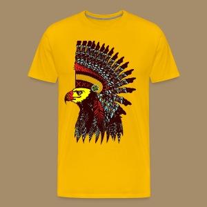 Tribal Eagle Totem with Headdress - Men's Premium T-Shirt