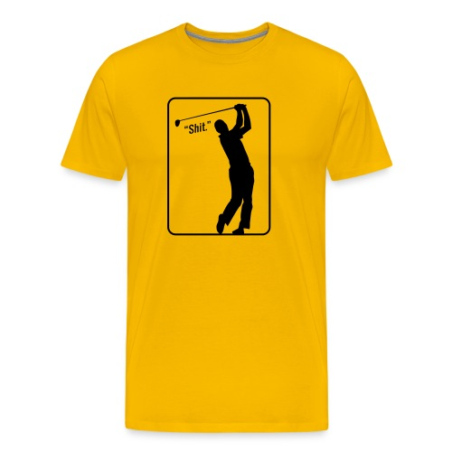 Golf Shot Shit. - Men's Premium T-Shirt