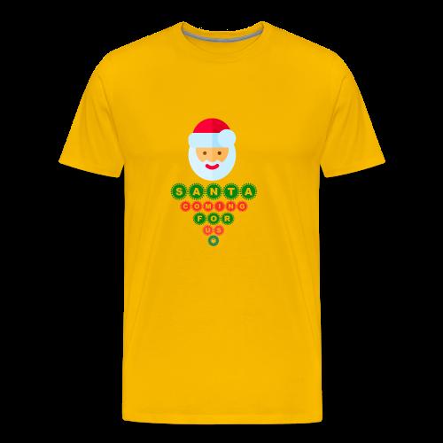 Santa Coming For Us - Men's Premium T-Shirt