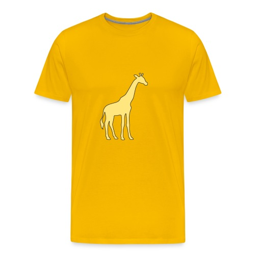 yellow giraffe - Men's Premium T-Shirt
