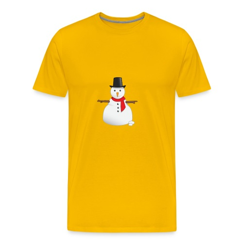 christmas-snowman-clipart-this-cute-snowman-clip-a - Men's Premium T-Shirt
