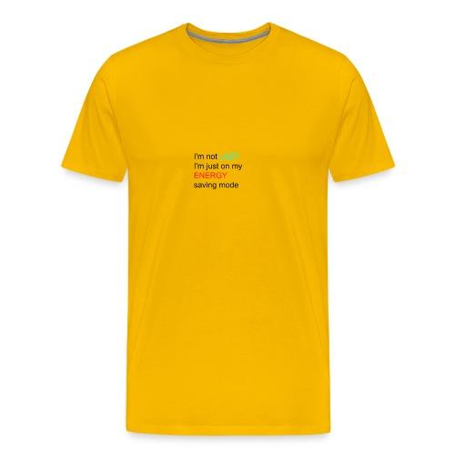 lazy girl quote - Men's Premium T-Shirt