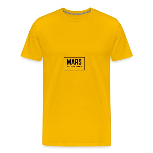 MAR$ Orginal White T-Shirt - Men's Premium T-Shirt