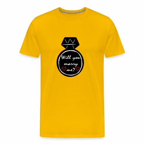 Will you marry me? Proposal Shirt - Men's Premium T-Shirt
